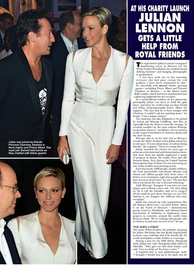 Hello Magazine Covers White Feather Foundation Charity Ball