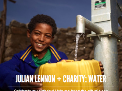 Julian Lennon Charity Water Birthday Fundraiser Rwanda
