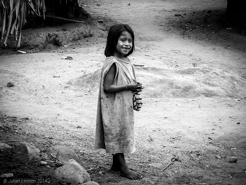 Kogi Tribe Girl Colombia WFF Julian Lennon Photography