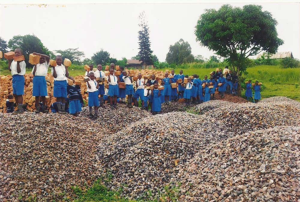 Washroom facilities for girls school in Uganda 2
