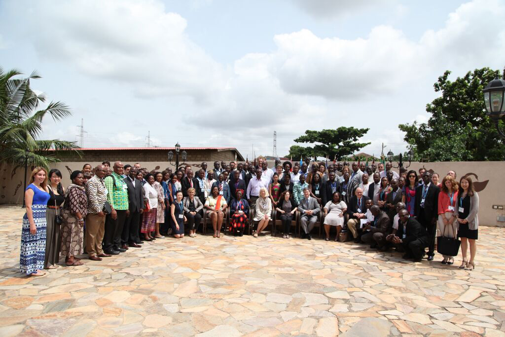 Group picture of all Workshop participants at Mensvic Hotel, Accra, Ghana