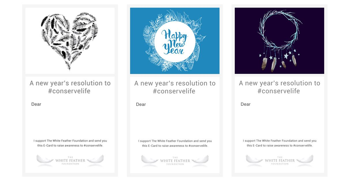Happy New Year E-Cards - The White Feather Foundation