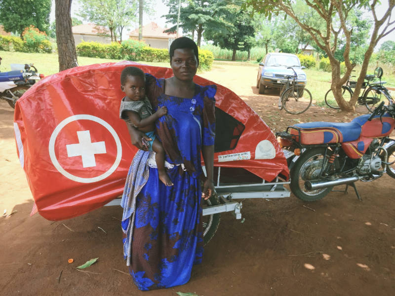 Village Ambulances helping new Mothers