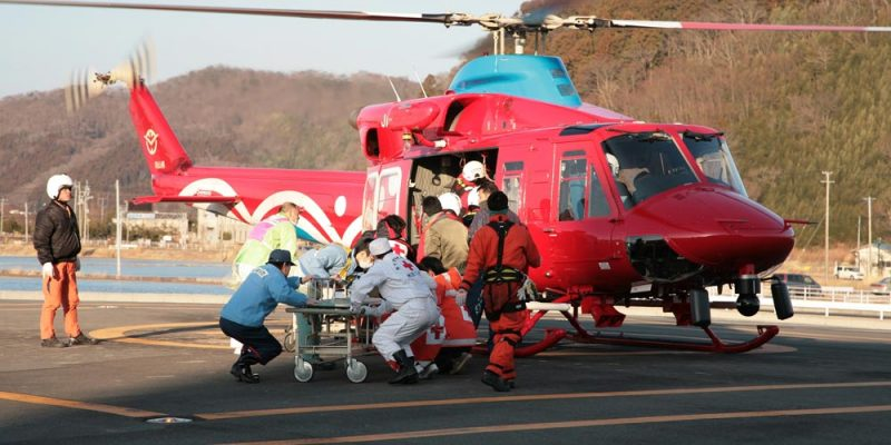 The Japanese Red Cross Society airlifted patients to Ishinomaki Red Cross hospital in Miyagi Prefecture. Toshirharu Kato, Japanese Red Cross ©IFRC